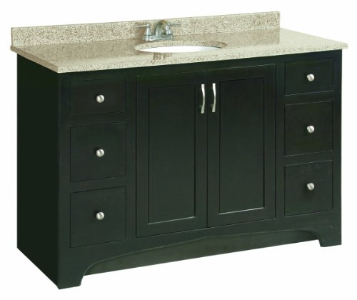 "Ventura Espresso Vanity Cabinet with 2-Doors and 4-Drawers, 48"" by 33.5"""