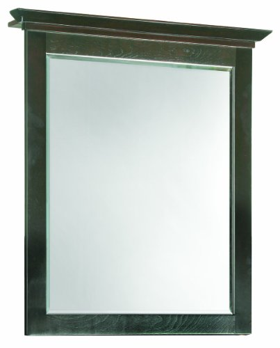 "Ventura Espresso Wall Mirror with Solid Maple Frames, 26"" by 30"""
