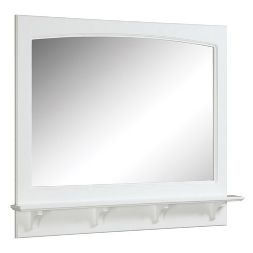 "Concord White Gloss Mirror with Shelf, 37.8"" by 4"" by 31"""