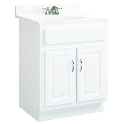 """Concord White Gloss Vanity Cabinet with 2-Doors, 24"""" by 21"""" by 30"""""""