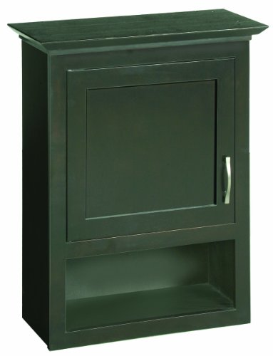 "Ventura Espresso Bathroom Wall Cabinet with 1-Door and 1-Shelf, 23.1"" by 30"""