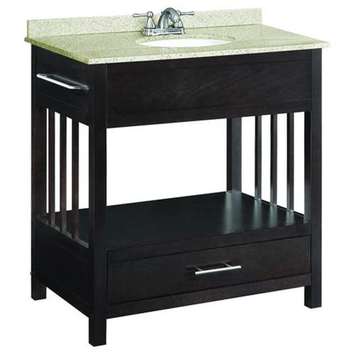 "Ventura Espresso Console Vanity Cabinet with 1-Drawer, 30"" by 21"""