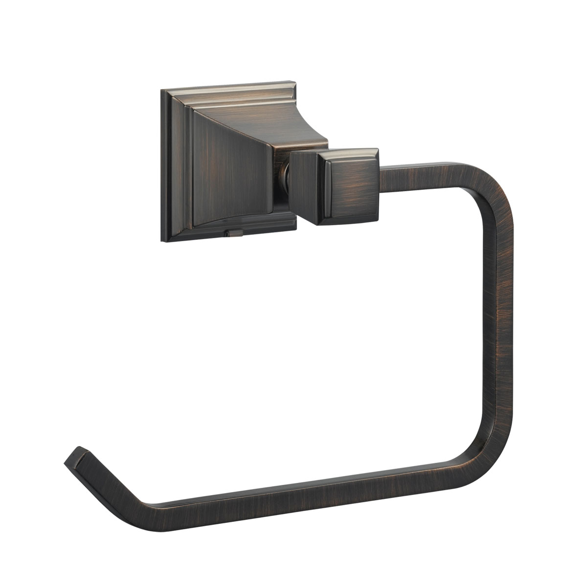 Torino Towel Ring, Brushed Bronze
