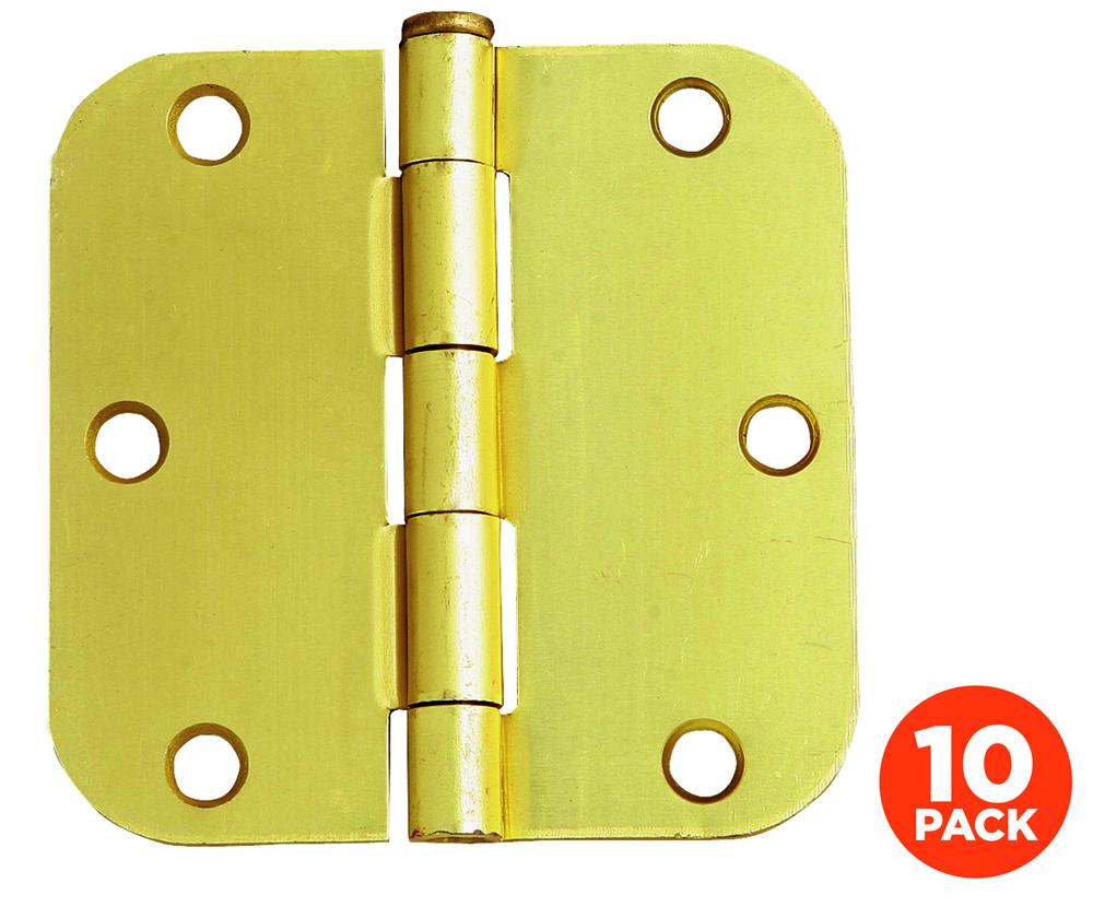 "10-Pack Hinge 3.5"", Satin Brass"