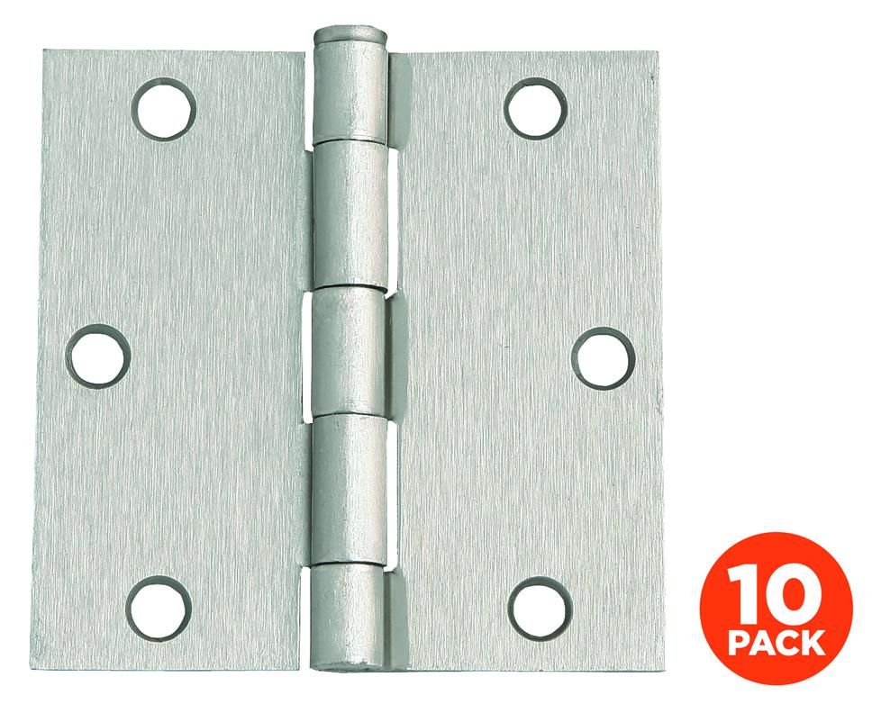 """10-Pack Hinge 3.5"""", Satin Nickel"""