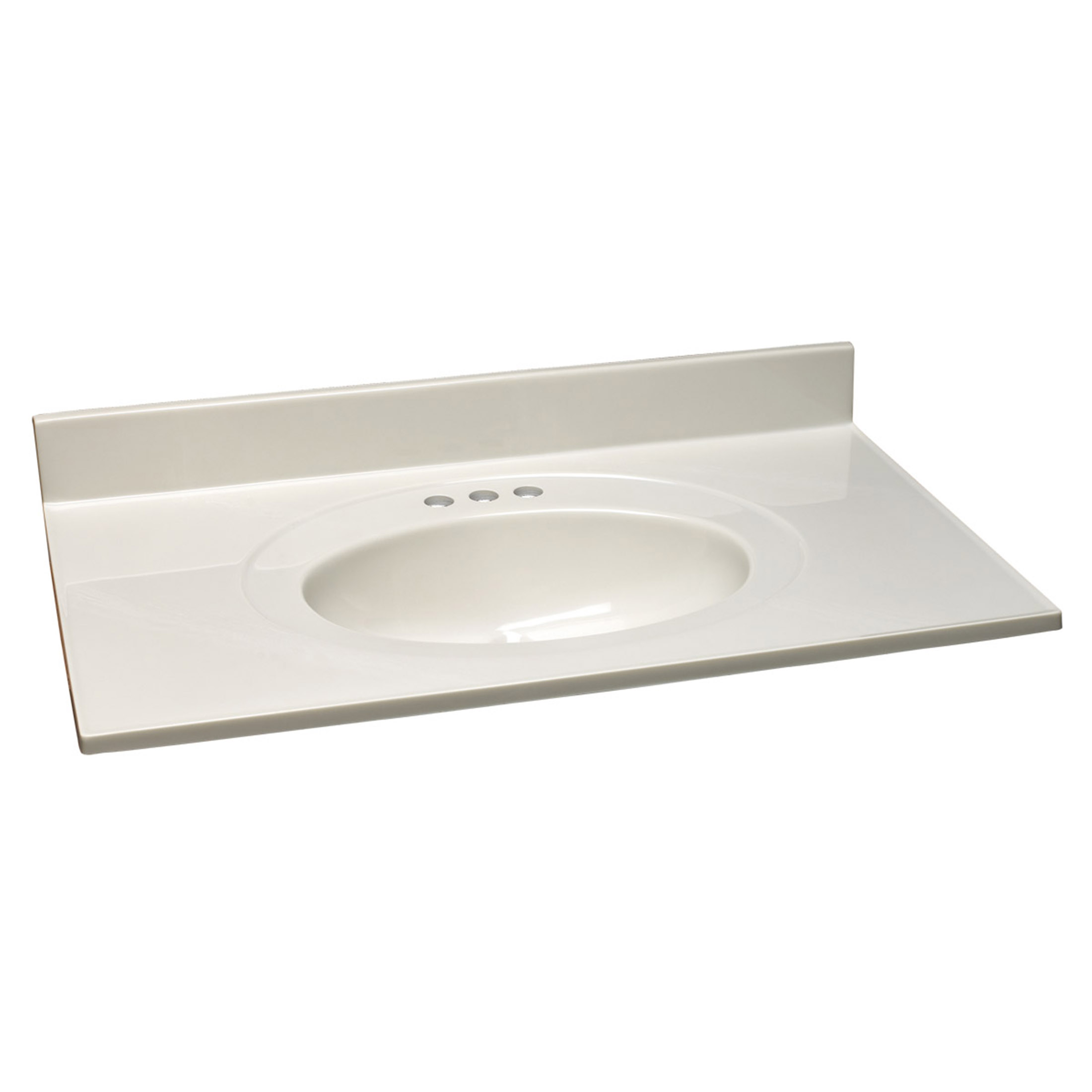 Single Bowl Marble Vanity Top, 49-Inch by 19-Inch, White