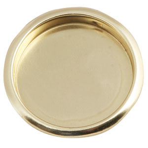 2-1/8-Inch Closet Finger-Pull Pocket, Polished Brass