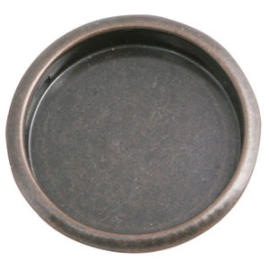 2-1/8-Inch Closet Finger-Pull Pocket, Oil Rubbed Bronze