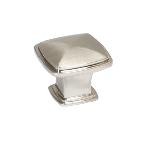 Park Avenue Door and Cabinet Knob, Satin Nickel