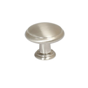 Victorian Door and Cabinet Knob, Satin Nickel