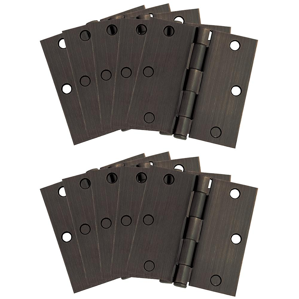 "10-Pack Hinge 3.5"", Oil Rubbed Bronze"