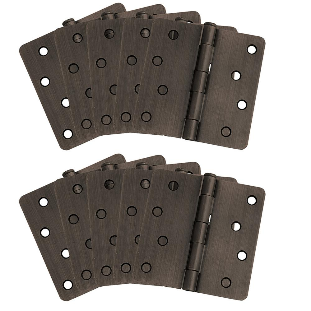 "10-Pack Hinge 4"", Oil Rubbed Bronze"