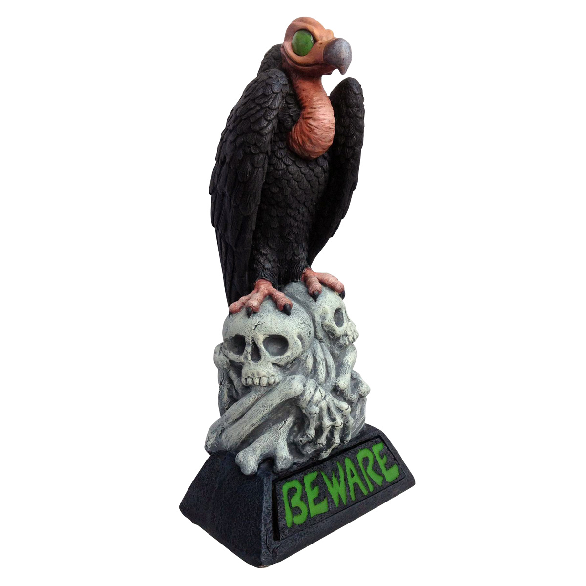 "Design House 28.25"" LED Beware Vulture Light-Up Lawn Decoration"