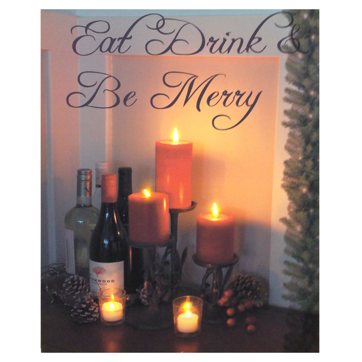 Design House Be Merry Lit Canvas Wall Decoration, 18x24-inches