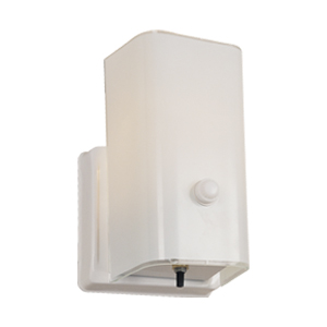 1-Light Wall Sconce with Switch, White