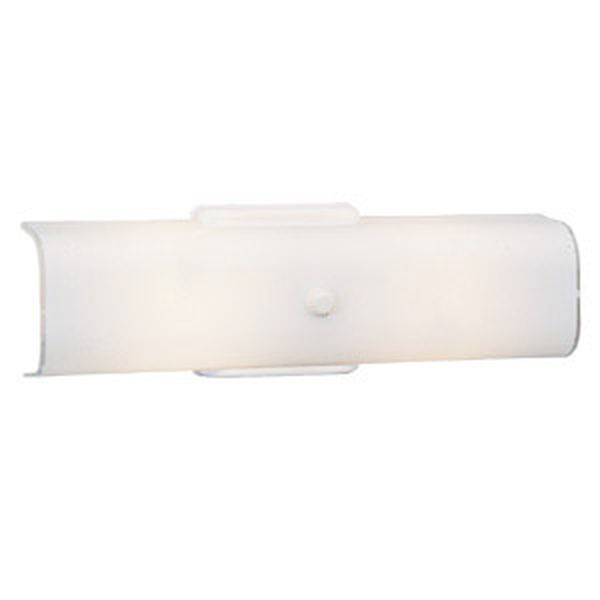 2-Light Wall Sconce, White
