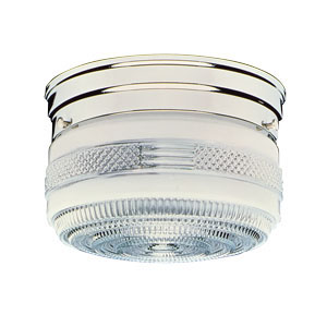 2-Light Ceiling Mount, Polished Chrome