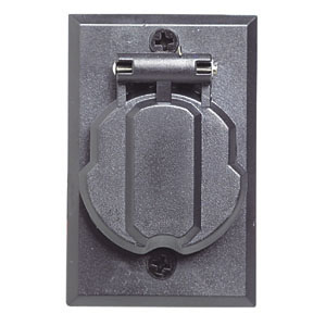 Replacement Electrical Outlet for Outdoor Lamp Post, Black