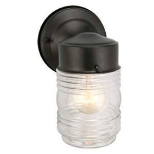 Jelly Jar Outdoor Downlight, 4.5-Inch by 7.5-Inch, Black