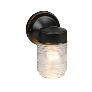 Jelly Jar Outdoor Downlight, 4.5-Inch by 7.5-Inch, Oil Rubbed Bronze