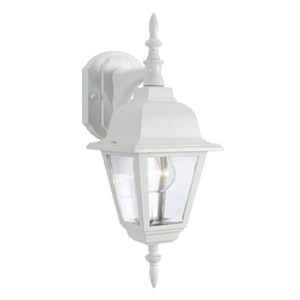 Maple Street Outdoor Downlight, 6-Inch by 17-Inch, White Die-Cast Aluminum