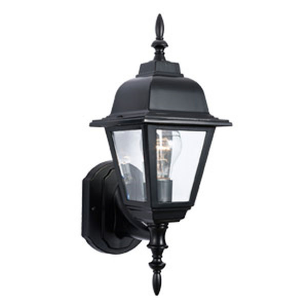 Maple Street Outdoor Uplight, 6-Inch by 17-Inch, Black Die-Cast Aluminum