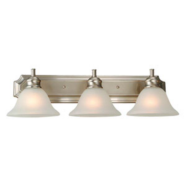 Bristol 3-Light Vanity Light, Satin Nickel