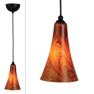 Carson Art Glass Pendant, Caramel Glass