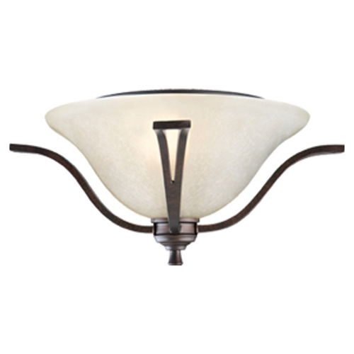 Ironwood 2-Light Flush Mount Ceiling Light, Brushed Bronze