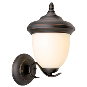 Trevie Outdoor Uplight, 8-Inch by 14-Inch, Oil Rubbed Bronze