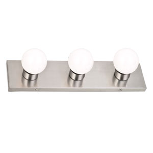 3-Light Vanity Wall Sconce, Satin Nickel