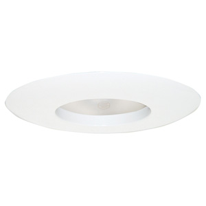6-Inch Recessed Lighting Wide Ring Trim, White