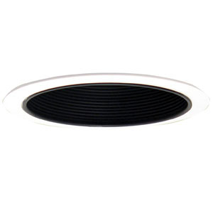 6-Inch Recessed Lighting Black Metal Baffle Trim, Black