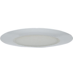 6-Inch Recessed Lighting Shower Trim, White