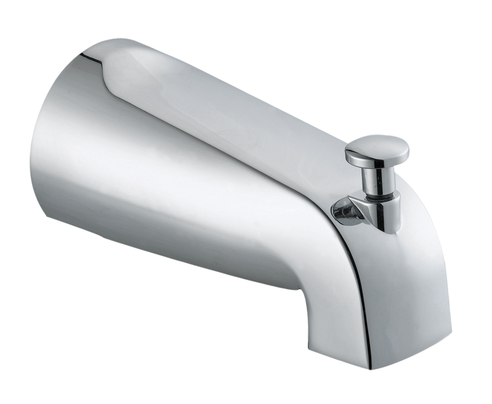 Design House 522912 Slip on Tub Diverter Spout, Polished Chrome