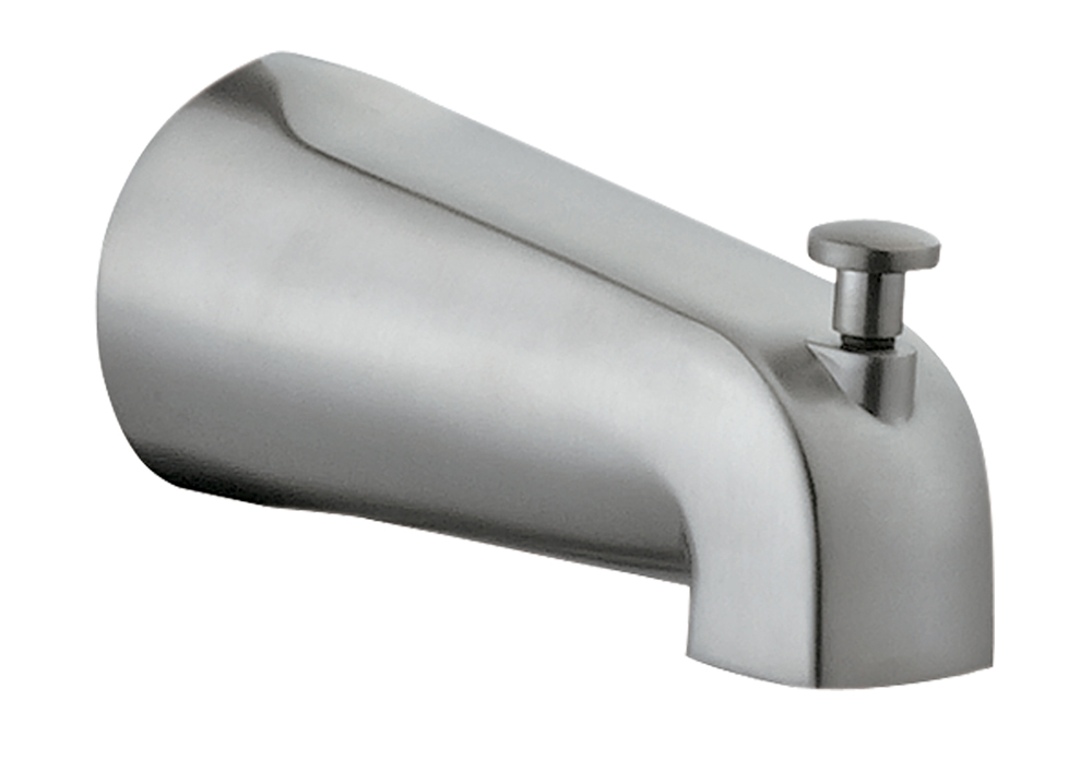 Design House 522920 Slip on Tub Diverter Spout, Satin Nickel