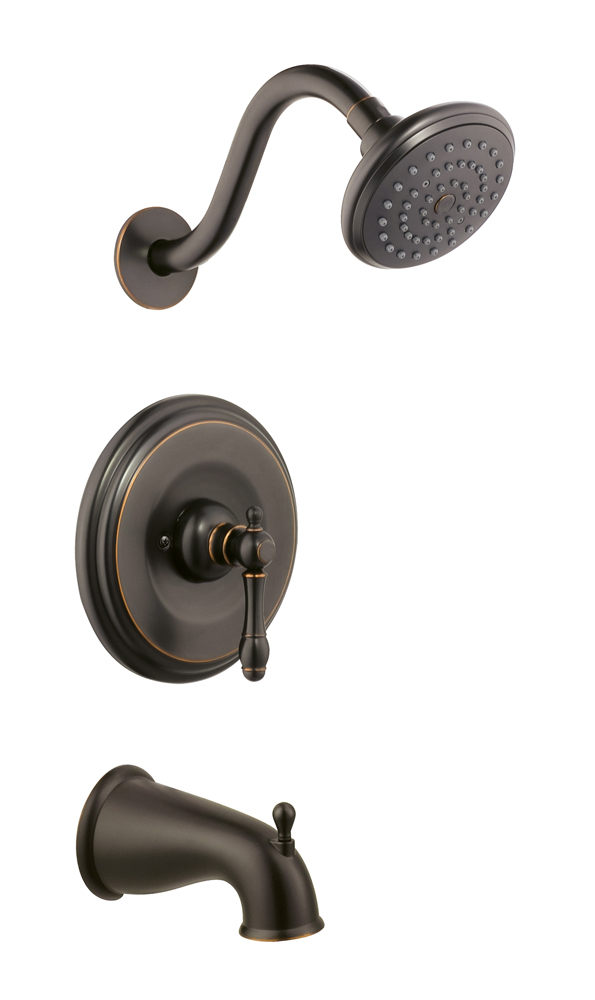 Design House 523464 Oakmont Tub and Shower Faucet, Oil Rubbed Bronze