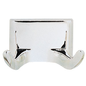 Millbridge Double Robe Hook, Polished Chrome