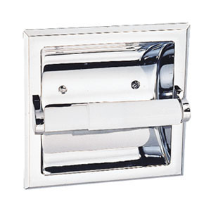 Millbridge Recessed Toilet Paper Holder, Polished Chrome
