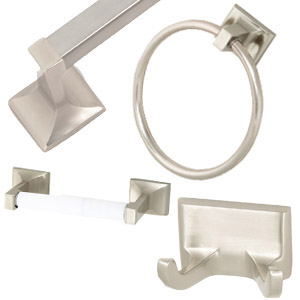 Millbridge 4-Piece Bathroom Kit, Satin Nickel