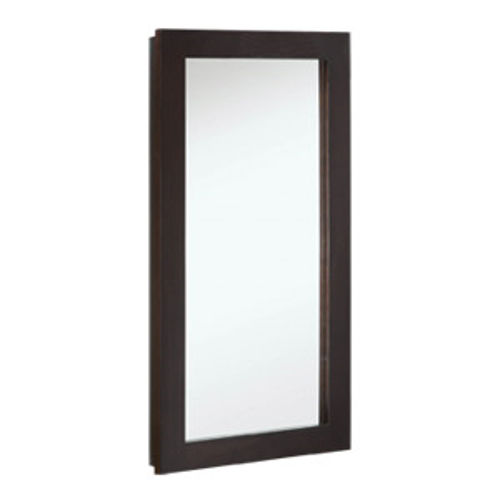 "Ventura Single Door Medicine Cabinet Mirror, 16"" by 30"", Espresso Finish"