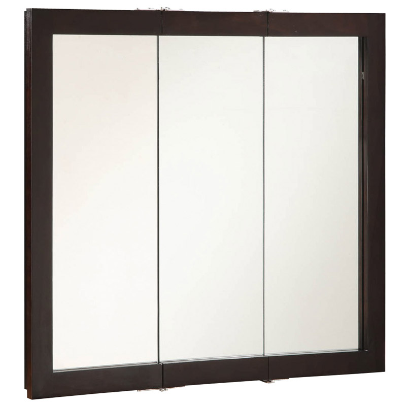 Ventura Espresso Tri-View Medicine Cabinet Mirror, 36-Inches by 30-Inches