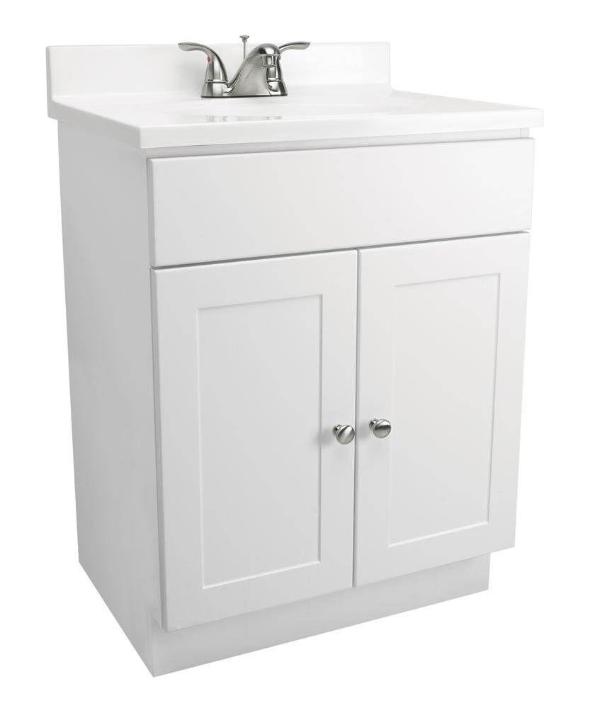 """Design House 541607 2-Door Vanity Combo 25"""", White"""