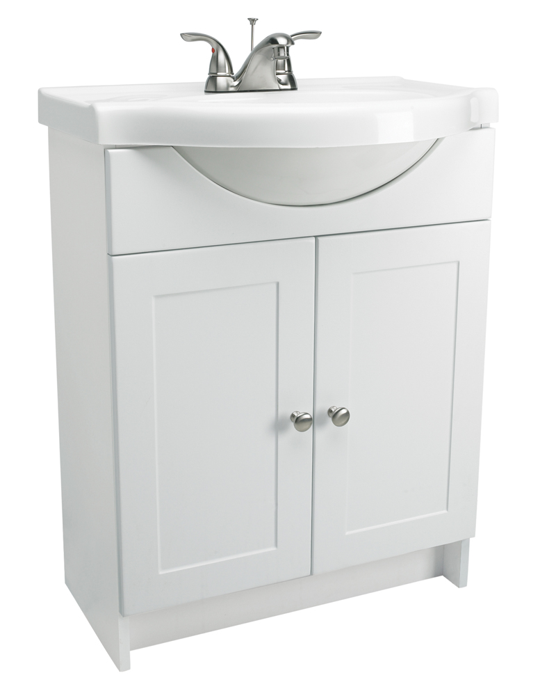 "Design House 541656 Euro 2-Door Vanity Combo 25"", White"