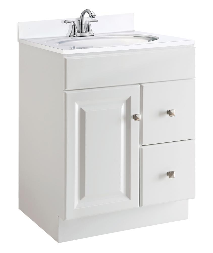 "Design House 545053 Wyndham 1-Door 2-Drawers 24"" Vanity, White"