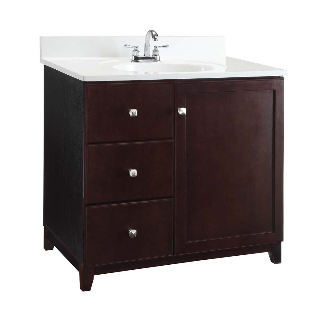 Design House 547018 Furniture-Style Vanity Cabinet, 30-inches by 21-inches, Espresso