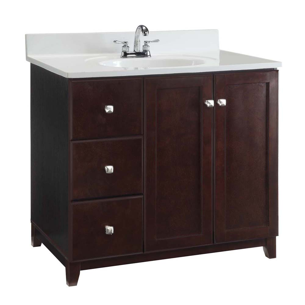 Design House 547034 Furniture-Style Vanity Cabinet, 36-inches by 21-inches, Espresso