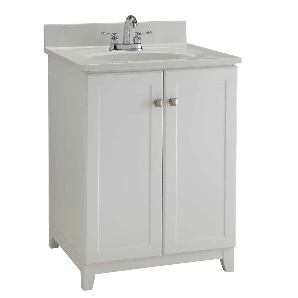 Design House 547117 Furniture-Style Vanity Cabinet, 24-inches by 21-inches, Semi-Gloss White