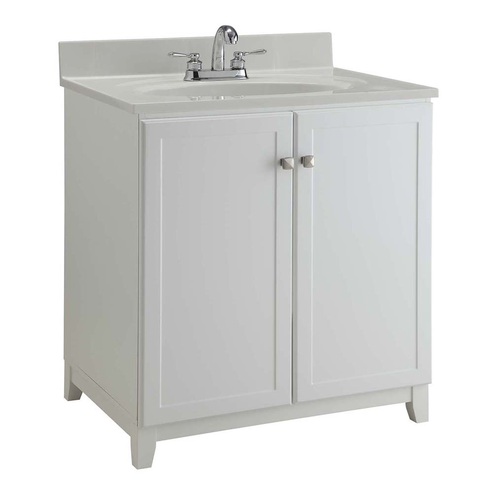 Design House 547133 Furniture-Style Vanity Cabinet, 30-inches by 21-inches, Semi-Gloss White