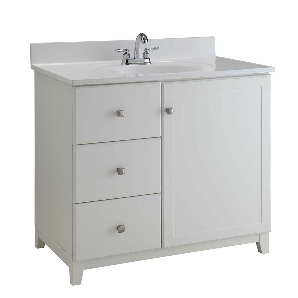 Design House 547141 Furniture-Style Vanity Cabinet, 30-inches by 21-inches, Semi-Gloss White